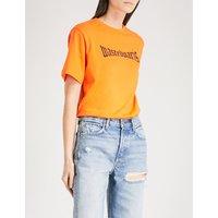 Orange London cotton-jersey T-shirt