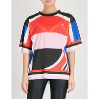 The Squad Tee abstract-print mesh T-shirt