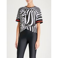 Winning Streak zebra-print cotton-jersey T-shirt
