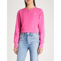 Logo-embroidered cotton-jersey cropped sweatshirt