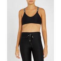 Dance logo-print stretch-jersey sports bra
