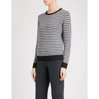 Frequency wave-patterend wool jumper