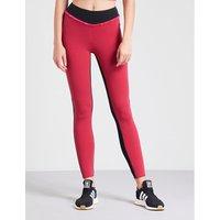 Lauren high-rise ruffled stretch-jersey leggings