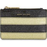 Glittered stripe coin purse