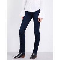 Kimmie slim-fit straight-leg stretch-denim jeans