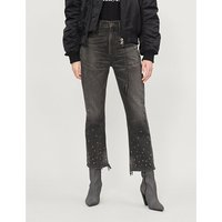 CITIZENS OF HUMANITY | Estella bead-embellished high-rise straight jeans | Goxip
