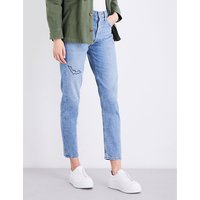 Jamie embroidered high-rise jeans