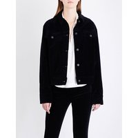 Oversized velvet jacket