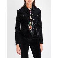 Rockins Ladies Black Classic Velvet Jacket, Size: S