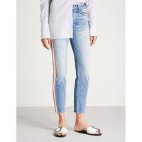 Karolina faded high-rise skinny jeans