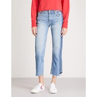 Jessica cropped mid-rise wide-leg jeans