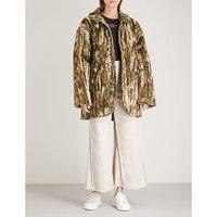Shelter padded velvet jacket