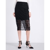 Overlay lace pencil skirt