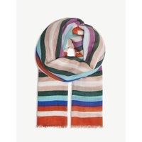 Carrington stripe modal-blend scarf