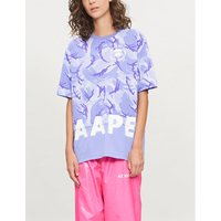 Camo-print cotton-jersey T-shirt