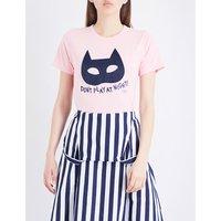 Chocoolate Mask cotton-jersey T-shirt, Women's, Size: M, Pink