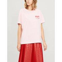 Whisk-print cotton-jersey T-shirt