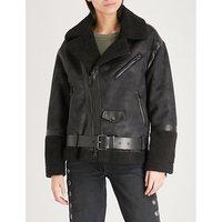 Oversized faux-shearling jacket