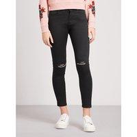 MUSIUM | Logo-print skinny mid-rise jeans | Goxip