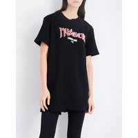 Musium Ladies Printed Reconstructed Logo-Print Cotton-Jersey T-Shirt, Size: 6