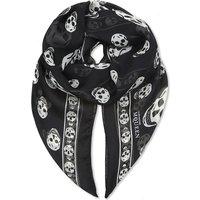 Alexander Mcqueen Skull print silk scarf, Women's, Size: 1 Size, Black/ivory