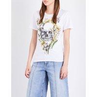 Iris skull-print cotton-jersey T-shirt