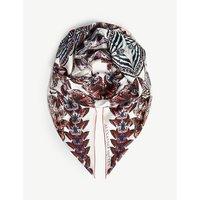Metamorphosis kaleidoscope-print silk pashmina