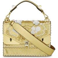 Fendi Kani I Special metallic leather shoulder bag, Women's, Gold