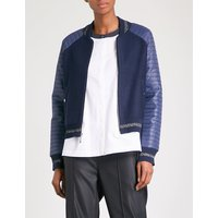 Quilted shell and knitted bomber jacket