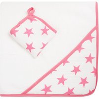 Aden + Anais Fluro star towel and washcloth set, Star