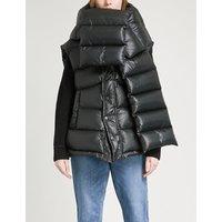 Balenciaga Ladies Noir Outspace Shell Puffer Gilet, Size: 6