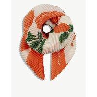 Hong Kong pleated silk scarf