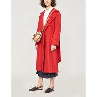 Max Mara Ladies Red Textured Elegant Manuela Camel Hair Coat