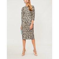 Dramma leopard-pattern wool dress