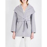 Max Mara Ladies Grey Luxurious Paglie Cashmere Wrap Coat
