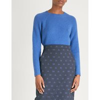 Uralia cashmere and silk-blend jumper