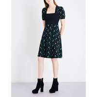 Lily puff-sleeve knitted dress
