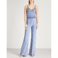 Striped knitted jumpsuit