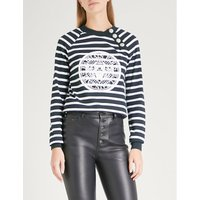 Coin print striped cotton sweatshirt