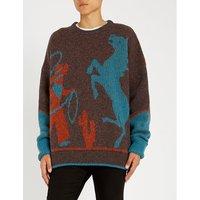 Cowboy-intarsia wool jumper