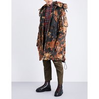 Camouflage cotton parka jacket