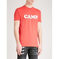 Camp printed cotton-jersey T-shirt