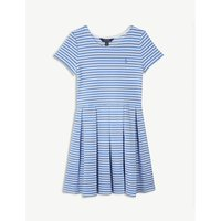 Stripe cotton-blend skater dress S-XL