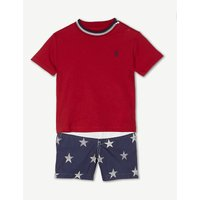 Stars and stripes cotton T-shirt and shorts set 3-24 months