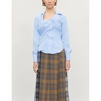 Alcoholic ruched cotton shirt