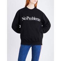 No Problemo printed cotton-jersey sweatshirt