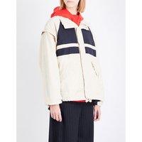 Panelled shell jacket