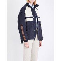 Martine Rose Ladies Navy Panelled Shell Jacket, Size: M
