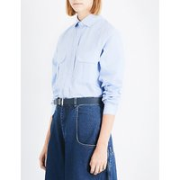 Long-sleeved cotton shirt
