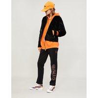 Dragon-embroidered velvet jacket